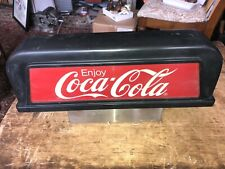 VINTAGE ADVERTISING  Coca-Cola Sign - Soda Fountain Machine Topper
