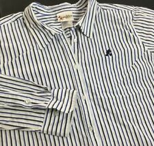 Walt Disney World Shirt Button Front Top Embroidered Mickey Striped Women 2XL