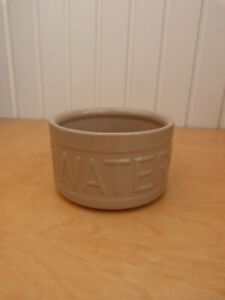 Collectable Mason & Cash Round Brown Ceramic Dog Puppy Water Bowl H9.5cms
