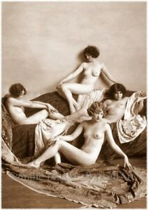 Vintage 14 Retro Erotic Nude female sepia A4 A3 A2 PHOTO EDIT REPRINT RussellArt