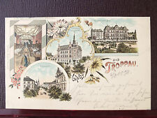 TOP - Farblitho - Troppau / Opava - gel. 1898 - Schwarzers Pilsnerbierhalle !