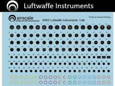 airscale Luftwaffe Cockpit Instrument Dial decals - 1/48 scale  AS48 GER
