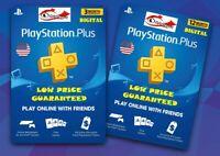 PlayStation Plus PSN Membership USA 90 days 365 days Digital Code PS3 PS4 VITA