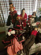 Lot of 7 Dept 56 Heritage Village Dickens Christmas Carol Doll Scrooge Wife Euc