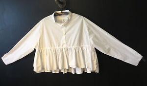 Rundholz Mainline white Boxy blouse Size L