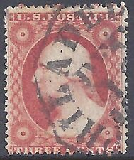 George Washington - 26 1857 3c Dull Red Type III Regular Issue - Used