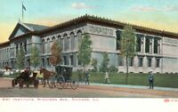 Vintage Postcard 1910's Art Institute Michigan Ave. Chicago IL Illinois