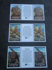 GIBRALTAR 2010 New Birds of Gibraltar defs Gutter Pairs SG 1258a/1258b/1259b MNH