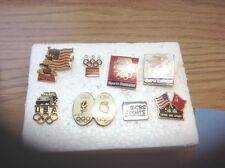 VINTAGE! A NICE LOT OF EIGHT (8) OLYMPIC SPONSOR PINS...SOME RARE!