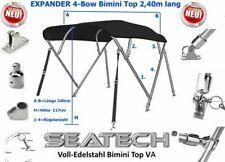 Seatech 4 Bow Expander 240cm lang EDELSTAHL Bimini Top 200-216cm
