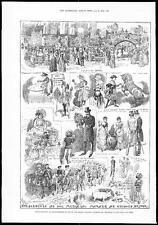 1884 Knightsbridge Londres entretenimiento en ayuda de Ealing College sordo mudos (044)