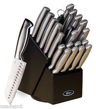 OSTER BALDWYN 22pc KITCHEN STAINLESS STEEL CUTLERY KNIFE KNIVES BLACK BLOCK SET