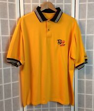 Parker Bohn Men'S Xl Yellow / Black 'Bohn Zone' Embroidered Polo Bowling Shirt