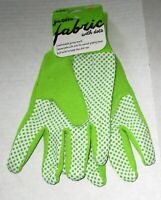 LADIES FABRIC GLOVES with Dots  by Mid West Glove Co.  Ladies   GREEN