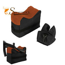 Front & Rear Bench Gun Rest Rifle Target Unfilled Stand Shotgun Accessory Tool