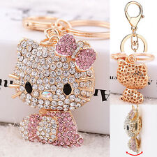 Cute Hello Kitty Pink Wallet Pendant Bling Crystal Mobile Phone Key Chain Ring