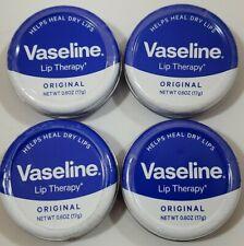Vaseline Lip Therapy, Lip Balm Tin Original 0.6 oz. ~Lot of 4~