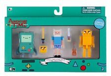 "Adventure time collector pixel pack 3 figure set-finn, jake & bmo 3"" figures"