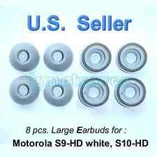 8 large Gray Motorola S9-HD S10-HD Replacement earbuds - Motorokr eargel eartips