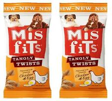 Dog Treats Misfits Tangly Twists Chicken & Egg x2 Packets 140g Each