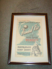 FRAMED CANVAS PRINT OF 1946 FAC FINAL PROGRAMME-DERBY COUNTY V CHARLTON ATHLETIC