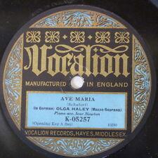 """78rpm 12"""" OLGA HALEY schubert ave maria / gretchen am spinnrade K 05257"""