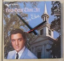 ELVIS PRESLEY* HOW GREAT..ALBUM CLOCK!***MAKES A GREAT GIFT!**FREE SHIPPING