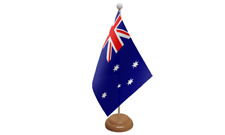 Australia Small Table Flag with Wooden Stand