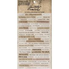 Tim Holtz idea-ology Stickers - Word Clippings 4 Sheets