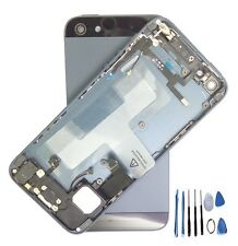 Black Complete Housing Back Battery Door Cover Mid Frame Assembly for iPhone5
