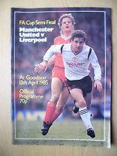 1985 FA Cup Semi Final-Manchester United v Liverpool, 13th April
