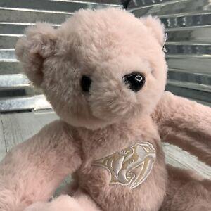 NHL Ice Hockey Predators Plush Rose Pink Teddy Bear