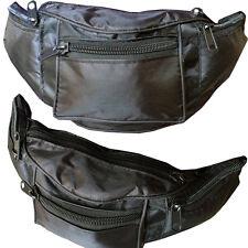 Water Resistant Large Black Bum Bag Travel Waist Pack Money Utility Bumbag Sport