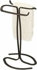 iDesign Axis Metal Hand Towel Holder for Master Bathroom Oil Rubbed Bronze