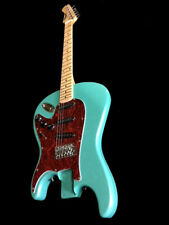 NEW GREAT PLAYING 6 STRING STRAT STYLE REVERSE ELECTRIC GUITAR SEAFOAM GREEN