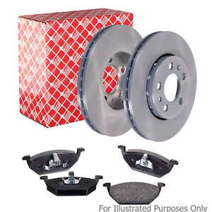 Fits Volvo S80 MK1 2.4 T5 AWD Genuine Febi Front Vented Brake Disc & Pad Kit