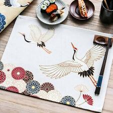 Cartoon Mat Kitchen Linen Table Insulation Placemat Home Cotton Dining YU