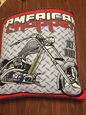 Handmade American Chopper Motorcycle Quillow (Pillow w/ 6ft long quilt inside!)
