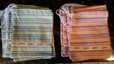 Zutano Drawstring 13 Bags Gift Storage Blue Pink Shoe Clothes