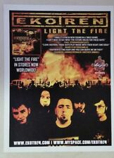 """Ekotren """"Light the Fire"""" Full Page Ad magazine clipping oop"""
