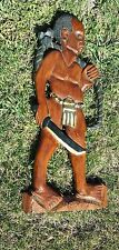 Vintage Wood Carved Wall Hanging Nkwerre Imostate Nigeria 1990 Art Ethnic 28 In