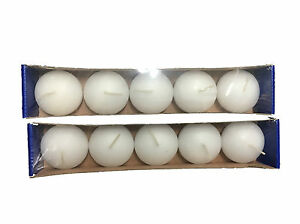 10x White Unscented Floating Candles Room Table Centrepiece Pool Bath 3Hrs
