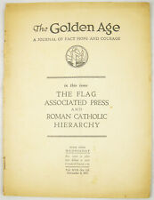 Golden Age magazine #421 Nov 6 1935 FLAG Catholic Hierarchy Watchtower Jehovah