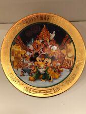 Tokyo Disneyland 1995 Christmas Fantasy Plate RARE FIND Mickey Minnie Donald