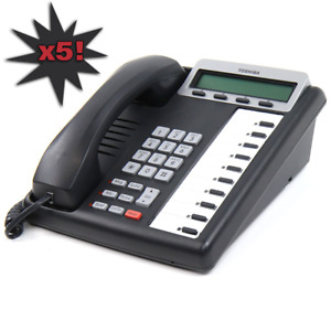 5 PACK Toshiba Programmable Business Phone | Digital Display Phone | DKT3210/20