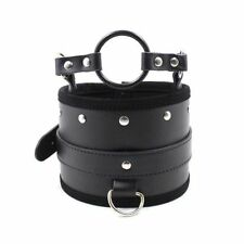 Posture Collar With O-Ring Gag - bondage restraint sexy