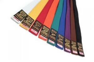 Plain Coloured Grading Belts 340CM Big Large Karate Judo Taekwondo Adults Long