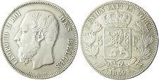 BELGIQUE  LEOPOLD  II  ,  5  FRANCS  ARGENT    1869
