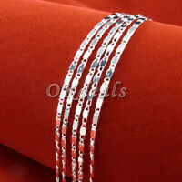 Wholesale 925 Sterling Silver Plated 2mm Charm Curb Flat Chain Necklace 16-24inc