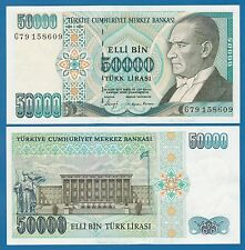 Turkey 50,000 Lira P 203a L.1970 (1989) aUNC Low Shipping Combine FREE 50000 203